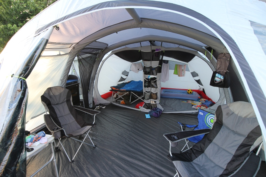 The inside of an Outwell Montana 6AC tent.