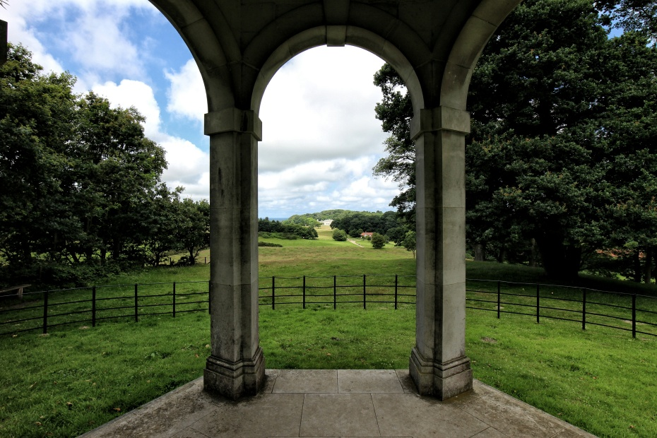 The view from the Temple looking towards Sheringham Hall